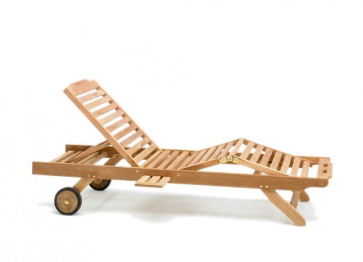 Lana, solvagn, solstol, teak, däcksstol, säng, hjul, justerbar, trädgårdsmöbler, teakmöbler