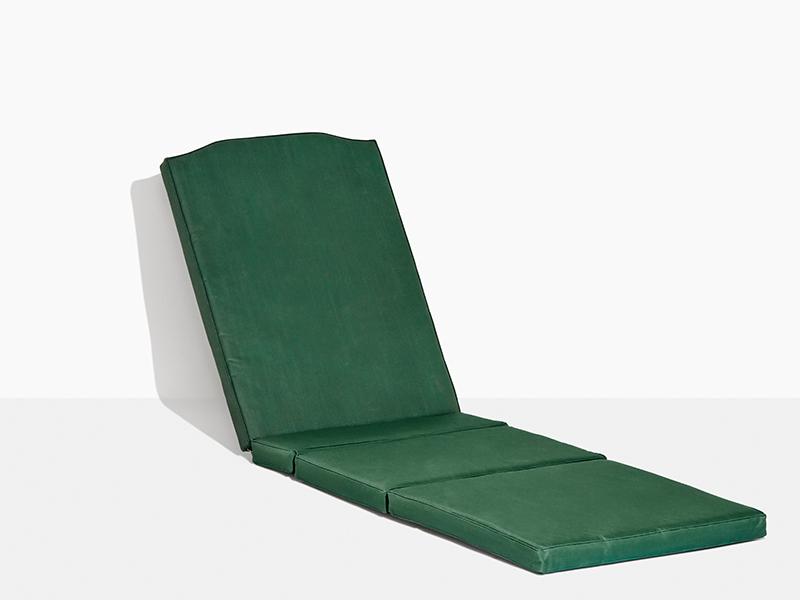 Dyna solvagn grön. Alla Scanteaks trädgårdsdynor är tillverkade i väderbeständig, smutsavisade och UV-behandlad polyester.