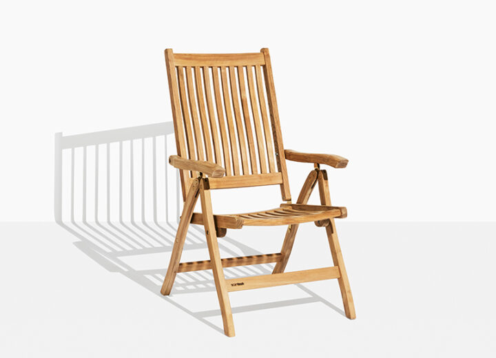 Anine Trädgårdsstol Teakstol. Hos scanteak finns endast möbler tillverkade i kärnteak utan tillsatta kemikalier, vi planterar ett nytt teakträd / såld produkt.