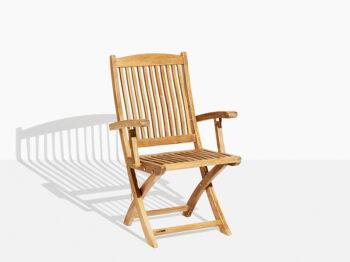 Safir Trädgårdsstol Teak. Hos scanteak finns endast möbler tillverkade i kärnteak utan tillsatta kemikalier, vi planterar ett nytt teakträd / såld produkt.