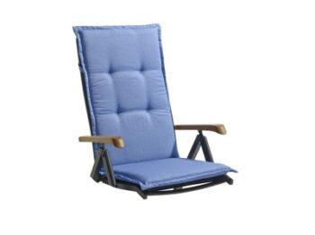 Blå dyna till trädgårdsstol, finns i många pastellfärger