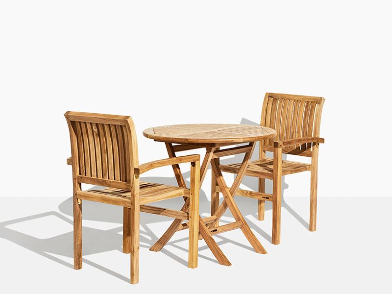 Cafémöbler i teak